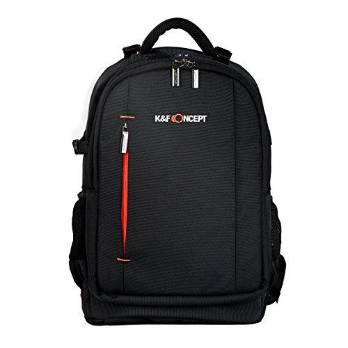 K&F Concept Fotorucksack groß Kamerarucksack wasserdicht Rucksack für 2 SLR-Kameras und Laptop 3-6 Objektive L, schwarz