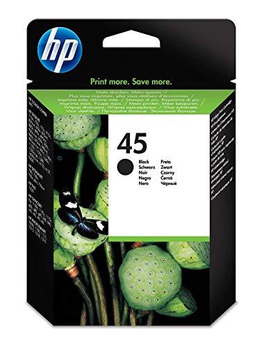 HP 51645AE 45 Cartucho de Tinta Original, 1 unidad, negro