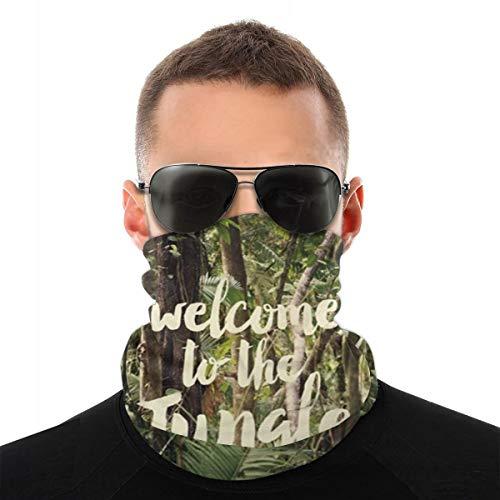 best& Welcome To The Jungle Sciarpa Viso Unisex Bandana Passanti per Orecchie Viso Passamontagna Passamontagna Uomo Donna Ghette per Collo per Polvere Vento Sun UV Copertura Moto