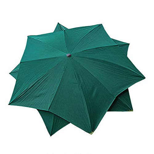 Parasol Balkon Sonnenschirm Außenterrasse 300cm UV-Schutz Sonnenschirm, Doppelschicht, kippbarer Lotusschirm-weiß/grün/blau/lila
