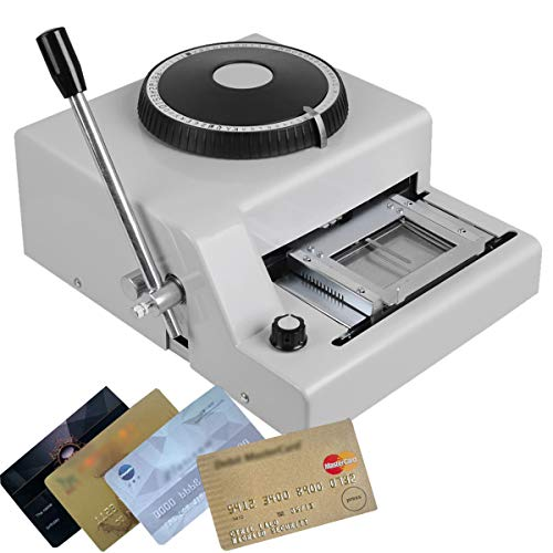 CARESHINE 72 Character Manual Embossing Machine PVC Card Embosser for VIP Card Club Card Printing Ship from USA 25 Days Delivery