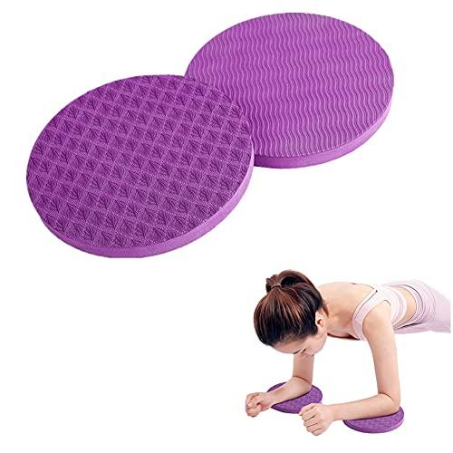 Hrpa Paquete de 2 rodilleras para entrenamiento de yoga, rodilleras, soporte para yoga, respetuoso con el medio ambiente, ligeras, para rodillas, manos, muñecas y codos