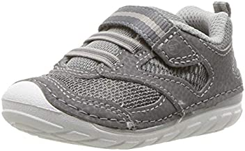 Stride Rite Baby-Boy's Adrian Athletic Mesh Sneaker, Grey, 5 M US Toddler