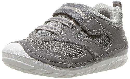 Stride Rite Baby-Boy's Adrian Athletic Sneaker, Grey, 3.5 XW US Infant