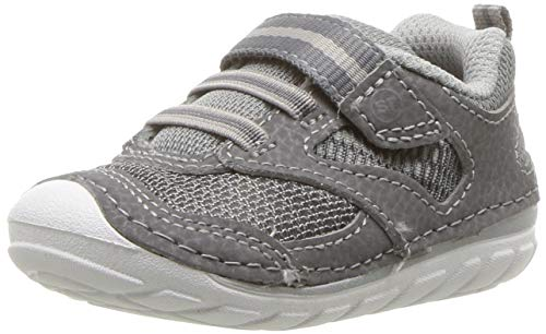 Stride Rite Boys Adrian Baby Athletic Mesh Sneaker, Grey, 5 M US Toddler