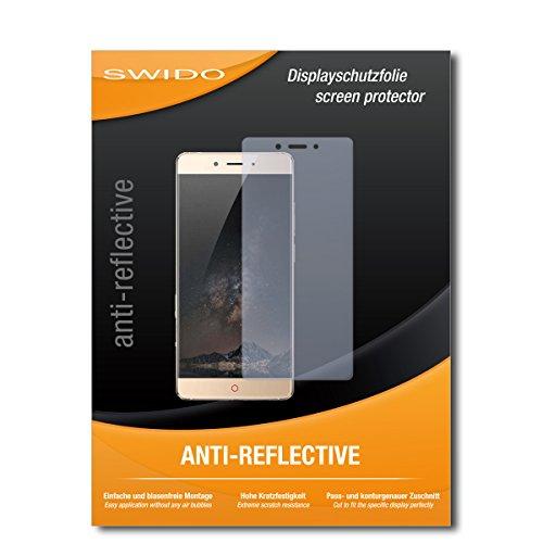 SWIDO Schutzfolie für Nubia Z11 [2 Stück] Anti-Reflex MATT Entspiegelnd, Hoher Festigkeitgrad, Schutz vor Kratzer/Bildschirmschutz, Bildschirmschutzfolie, Panzerglas-Folie