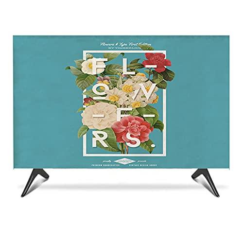 QYQS TV 100% A Prueba de Polvo Funda Exterior, Medio Diseño de Paquetes, Protección Completa de TV, Cierres Exteriores de TV, Admitimos Personalización(Size:47-50in/W116CMxH67CM)