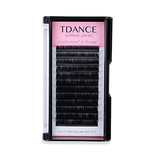 TDANCE Premium CC Curl 0.15mm Thickness Semi Permanent Individual Eyelash Extensions Silk Classic Lashes Professional Salon Use Mixed 10-17mm Length In One Tray (CC-0.15,10-17mm)