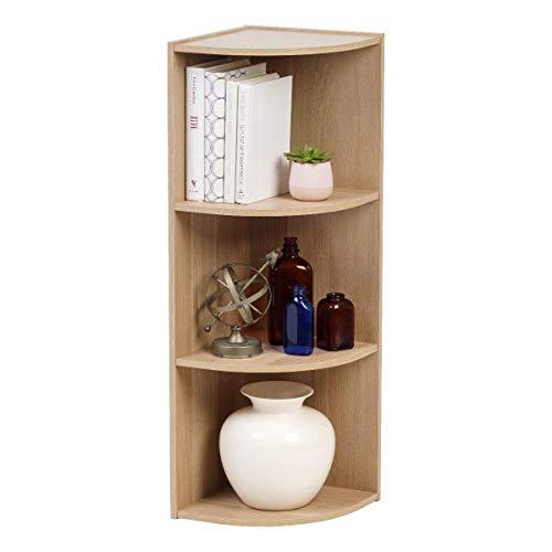 Iris Ohyama - Ripiani ad angolo 3 nicchie / 3 scaffali in legno - Corner Shelf CX-3C - beige, 29 x 29 x 87,2 cm