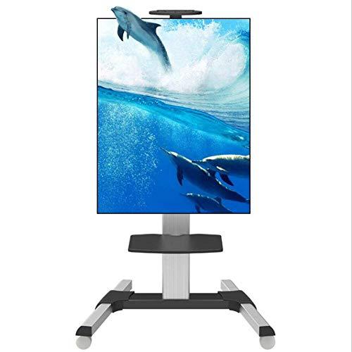 HANG - Soporte para TV de pie con Ruedas móviles para TV LED LCD de 32 a 70 Pulgadas, aleación de Aluminio, Pantalla Vertical