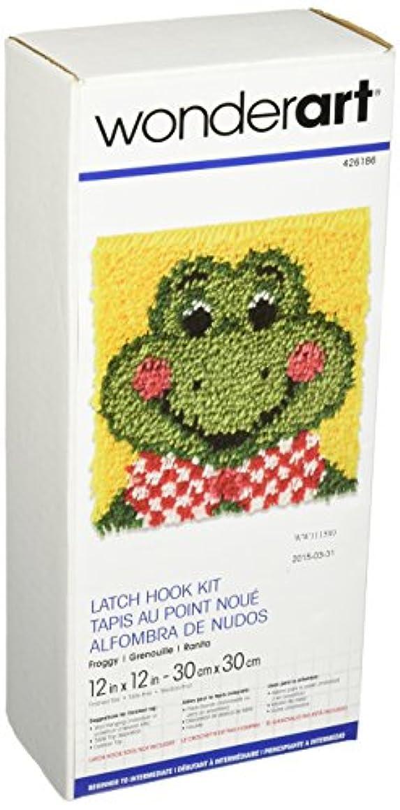 Wonderart Froggy Latch Hook Kit, 12