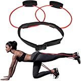 Booty Bands with Adjustable Belt, Fitness Booty Bands Power Butt Exercise, Resistance Band Muscle Waist Belt - Workout Loop Ladies Elastic Muscles Trainer Fitness Body Glute Lifter Exercise