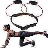 Auplew - Cintura di resistenza per fitness, con elastico per gambe e gambe