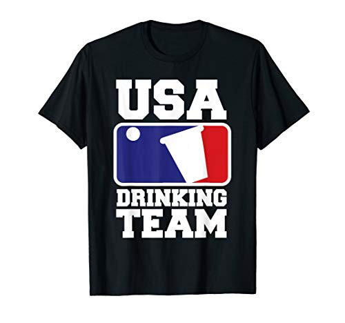 USA, die Team Beer Pong Logo trinken T-Shirt