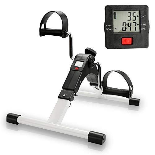 Riossad Mini Fahrrad Pedaltrainer, Bike-Heimtrainer für Muskelaufbau, Armtrainer und Beintrainer für Muskelaufbau, Ausdauertraining, Bewegungstraining Fitnessgerät für Senioren und Kinder