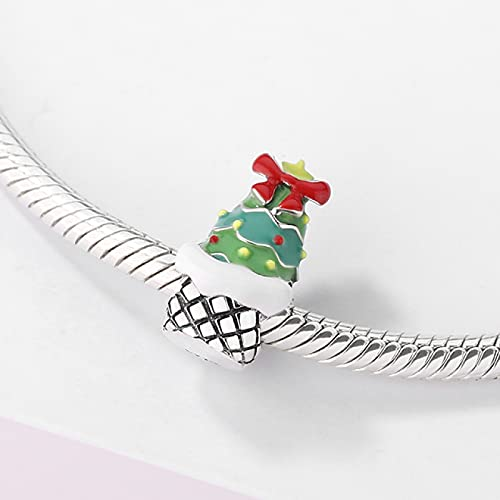 YYFHHK 2021 925 Igloo De Plata Botas Navideñas Cuentas De Metal De Joyería De Bricolaje Hacer Encanto Fit Collar De Pulsera Original