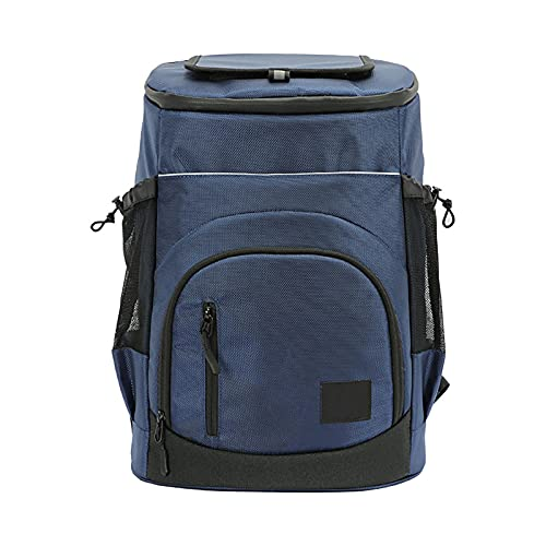 Mochila térmica suave con aislamiento, impermeable, 30 l, a prueba de fugas, mochila de picnic para camping, camping, barbacoa, actividades familiares al aire libre (azul oscuro)
