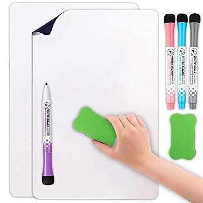 Magnetic White Dry Erase Board Fridge 2 Pack 12...