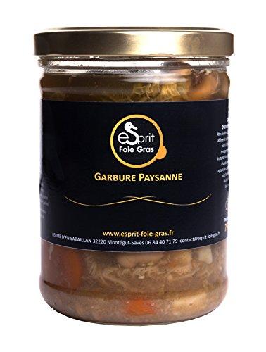 Esprit Foie Gras - Garbure paysanne du Gers - 750 g - Conserverie familiale du Gers - Plat cuisiné pour 2 personnes - Canard élevé et transformé dans le Gers - Terroir et gastronomie du Sud-Ouest
