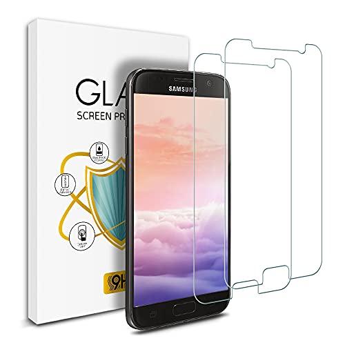 Wsky Panzerglas Schutzfolie für Samsung Galaxy S7 [2 Stück], 9H Härte HD Klar Gehärtetem Glas Anti-Kratzen Ultra Dünn Blasenfrei, Displayschutzfolie für Galaxy S7