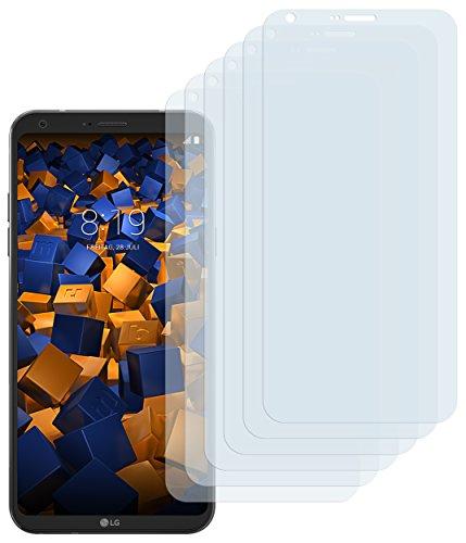 mumbi Schutzfolie kompatibel mit LG Q6 Folie klar, Bildschirmschutzfolie (6X)