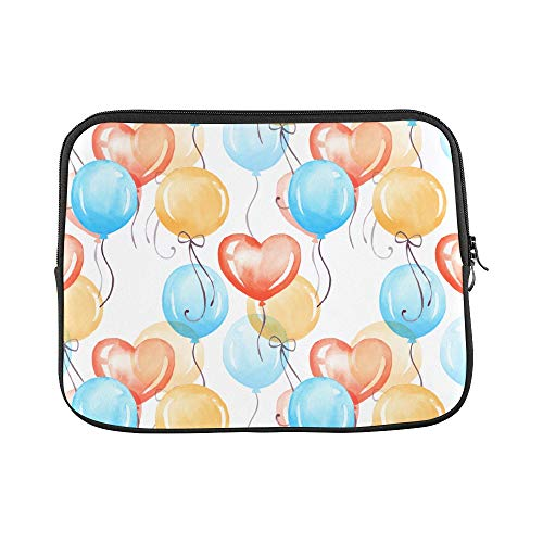 Unique Custom Balloons of Blue Yellow Purple Colors Print Laptop Briefcase Bag for Men Soft Best Laptop Case Briefcase Protective for MacBook Air 11""