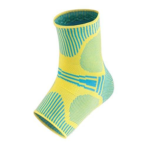 Y-fodoro 1 Paar Knöchelunterstützungs-Sportsocken, bedruckte atmungsaktive Kompressionssocken gegen Verstauchung, für Basketball-Badminton-Outdoor-Gymnastik-Socken-Green_L