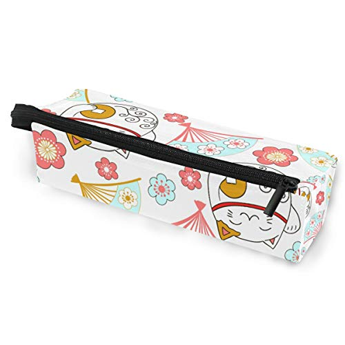 Bleistift Tasche Sonnenbrille japanischen Stil Happy Money Cat Cosmetic Studenten Schreibwaren Tasche Reißverschluss für Mädchen Jungen