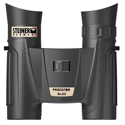 Steiner Optics Fernglas Predator Serie, wasserdichte und beschlagfreie Optik für Jagd und Schießen, Unisex-Erwachsene, 8X 22mm