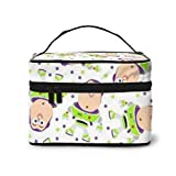 Buzz Lightyear Bolsa de maquillaje, bolsa de cosméticos portátil de viaje, bolsa grande de malla, organizador de brochas de maquillaje, bolsa de aseo para mujeres y niñas