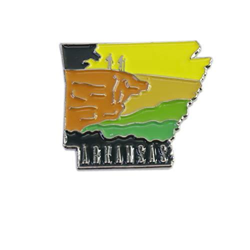 Arkansas Natural State Shape of Arkansas Nickname Enamel Lapel Pin (1 Pin)