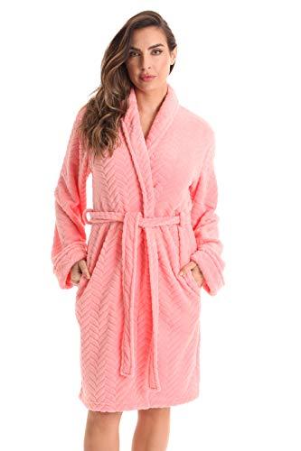 Just Love Kimono Robe Bath Robes for Women 6312-Coral-L