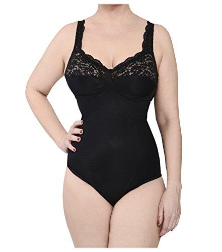 BODYPERFECT Body Reductor Mujer Adelgazante Copa D Body Mujer Sexy Body Reductor Mujer Made in Italy (Negro, XXL)