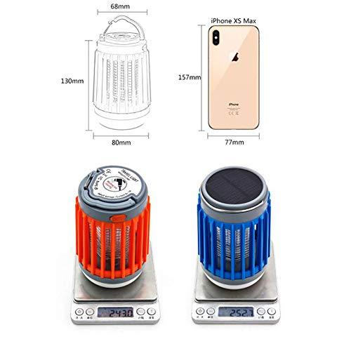 Acptxvh Solar-LED-Moskito-Mörder-Lampen-Haushaltswasserdichte USB aufladbare Beleuchtung Mosquito Trap-Mute Elektrischer Mückenschutz,Rot