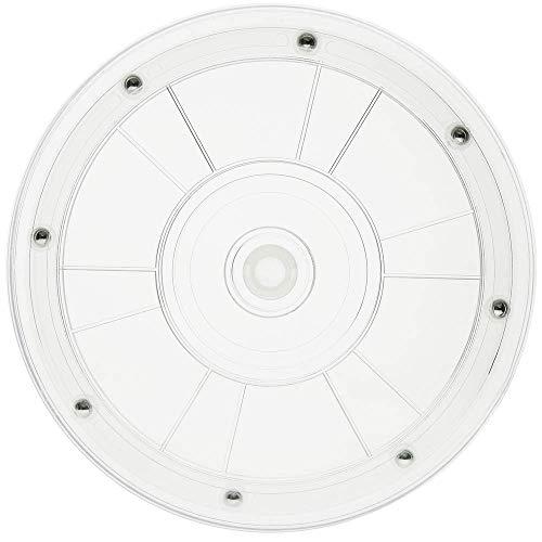 PrimeMatik - Manuelle rotierende drehteller 20,3 cm transparent