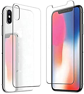 Apple IPhone XS Max (6.5) Front & Back 2.5D Tempered Glass Screen Protector - Clear For iPhone XS Max Mobile