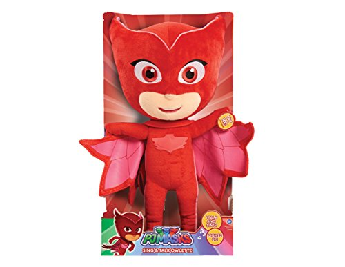 PJ Masks Sing & Talking Feature Plush - Owlette, Red, 14 inches