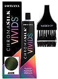 Pravana ChromaSilk VIVIDS CRYSTALS Hair Color Shades with Silk & Keratin Amino Acids Dye (with Sleek Brush) Haircolor Crystal (Jade)