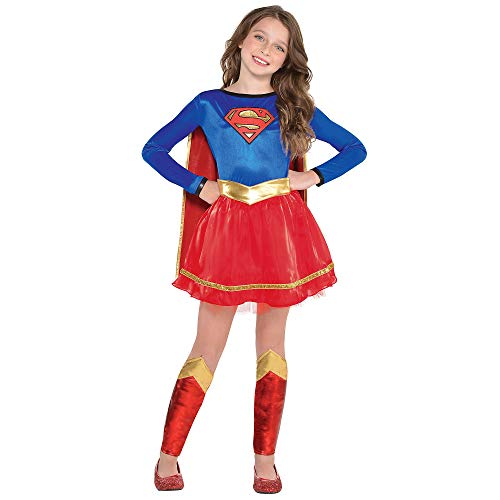 Costumes USA Supergirl Costume for Girls, DC's Superman Family, Large (Size 12-14), Includes Dress, Belt and Cape