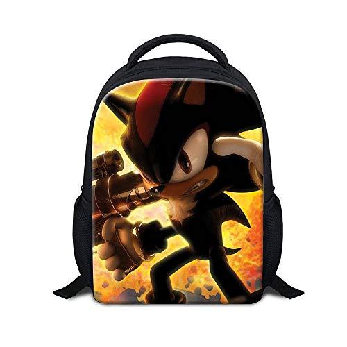 Mochila de jardín de infancia para niños con mochila de dibujos animados de Sonic Mochila escolar para niños de 3 a 5 años de regalo