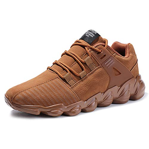DRVOCYR, scarpe da ginnastica da uomo, leggere, traspiranti, in rete, Marrone (Marrone), 47 EU