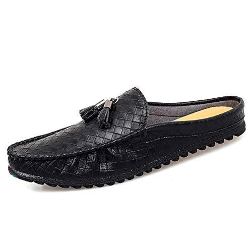 BBTK Zapatos de Cuero Blandos Mocasines de conducción para Hombres Mocasines de...