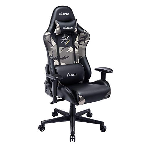 Musso Ergonomic Camouflage Gaming Chair Adjustable Esports Gamer Chair,...