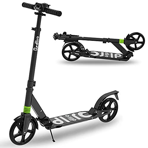 REDLIRO Adult Scooter with Rear Break, Adjustable Handlebars, Big...