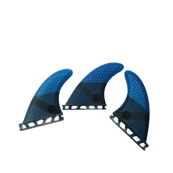 UPSURF Surfboard fin Future Basic Fin Medium Size, G5 tri Fin 1 Thruster fin set (3-Fin) For all-around balanced surfing Compatible with FUTURE