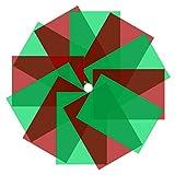 Neewer Filtro de Gel Navideño de 12 Piezas, Superposiciones de Colores Navideñas Filtro de Luz de Gel de Corrección Filtro de Iluminación Transparente, Rojo y Verde, 29 x 20cm