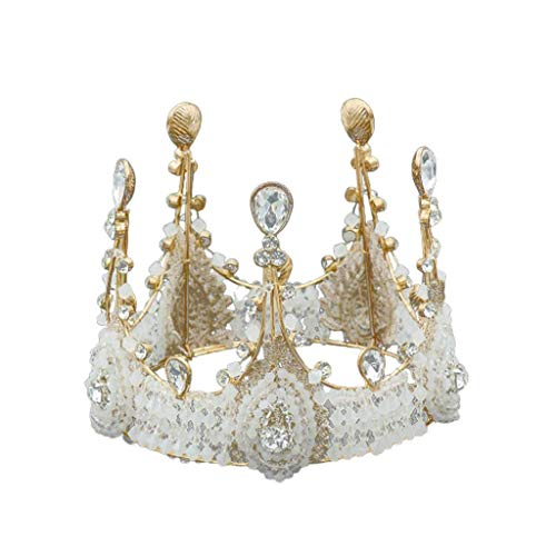WZHZJ Headwear-Crown Tiara cristalina for la Boda de Novia Mujeres cumpleaños Prom Queen Pageant Accesorios for el Cabello