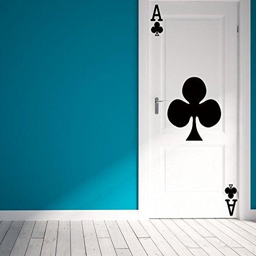Türtapete selbstklebend Tür Poster - Poker Black Plum A 95x215cm - Fototapete Türfolie Poster Tapete Wasserdichtes PVC-Wandgemälde Schlafzimmer Wohnzimmer Tür Dekoration