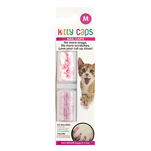 Kitty Caps 40 Count Spring Green avec Paillettes et Ultra Violettes pour Ongles Taille XS