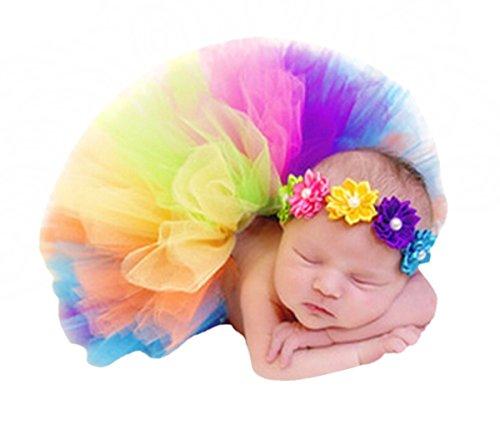CHIC-CHIC Bébé Déguisement Photographie Bandeau Fleur Aile Ange Princesse